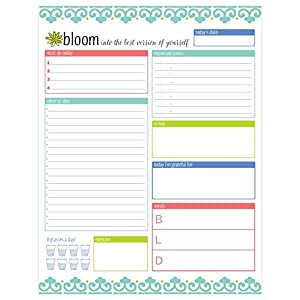 "bloom daily planners Daily Planning System Tear Off To Do Pad - Teal - 8.5"" x 11"""
