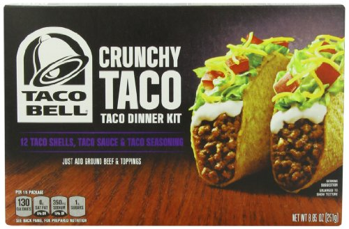 Taco Bell Taco Dinner Kit, Crunchy, 8.85 (Ground Beef Tacos)
