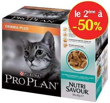 Pro Plan Derma Plus NutriSavour au Cabillaud en Salsa – Bolsas para Gatos Adultos 10 x 85 g: Amazon.es: Productos para mascotas