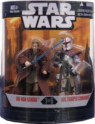 Star Wars OBI-Wan Kenobi & Arc Trooper Commander Saga Order 66 Action Figures