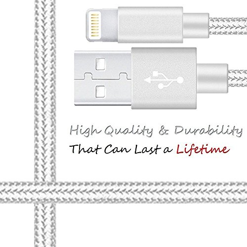 iPhone Charger - Lightning Cable Certified 4Pack 10FT Ultra Long [NYLON BRAIDED] iPhone Charging Cable Cord Compatible with iPhone 8 8 Plus X 7 7Plus 6S Plus 6 6Plus 5 5S 5C SE iPad iPod & More by Power Boost (Image #3)