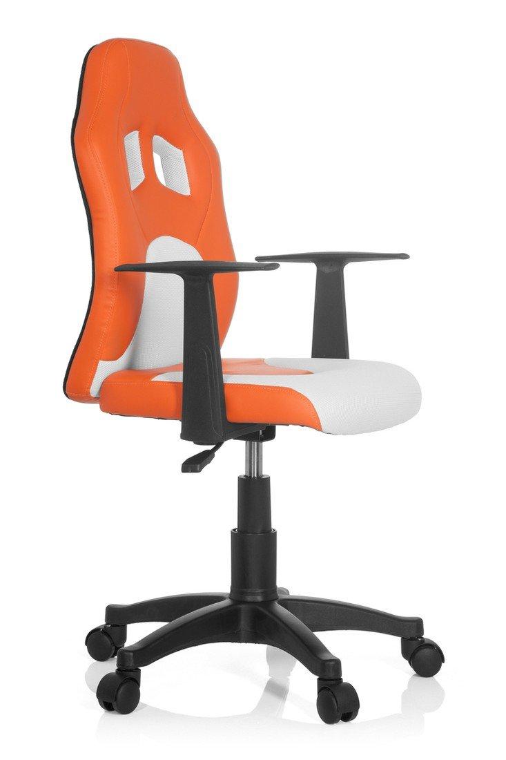 Kinderschreibtischstuhl mit armlehne  hjh OFFICE 670750 Kinderschreibtischstuhl TEEN RACER AL orange ...