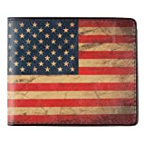 BUCKLE-DOWN American Flag Wallet, Red/White/Blue