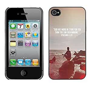 Impact Case Cover with Art Pattern Designs FOR iPhone 4 / 4S Quote Religion Epiphany Christian Betty shop