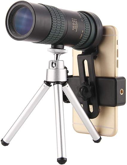 C-S-P Adaptador Smartphone 8-24X30 Zoom telescopio monocular de Enfoque Dual BAK4 Prisma de la Lente y el trípode para la observación de Aves de Caza Senderismo: Amazon.es: Electrónica