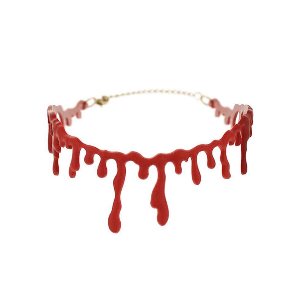 Pynxn - decoración de Halloween Horror Goteo Collar Sangre ...