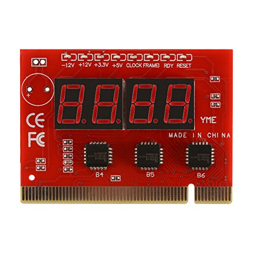 XCSOURCE LED 4 Digit Analysis Diagnostic Tester POST Card PCI PC Motherboard Analyzer for Laptop PC Computer AC1147