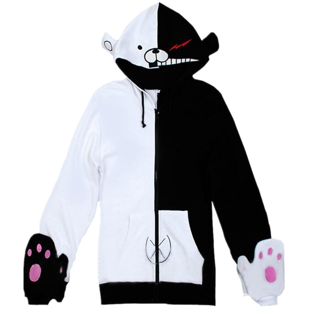 Lifeye Black White Sweatshirts Cosplay Jacket Hoodies - Long/Short Sleeves