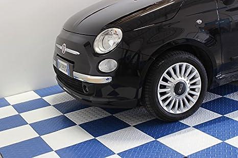 Pavimento piastrella bianca pp officina auto moto pavimentazione