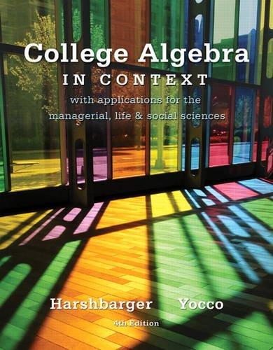 College Algebra in Context (4th Edition) (Best Elementary Schools In Brooklyn)