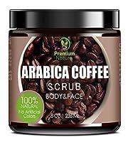 Exfoliating Coffee Body Scrub - Best Exfoliator Sea Salt Olive Oil & Shea Butter - Acne Treatment Exfoliate Moisturize Tone & Reduce Cellulite Premium Nature