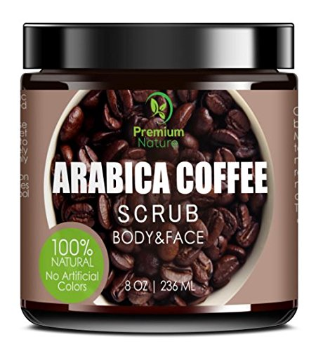Exfoliating Coffee Body Scrub - Best Exfoliator Sea Salt Olive Oil & Shea...