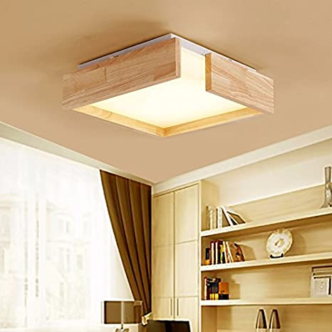 LPLFCeiling Personalidad creativa madera maciza lámparas LED ...