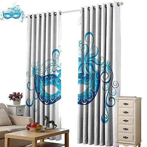S Brave Sky Decorative Curtains for Living Room,Single-Sided Printing Pattern W96 xL84,Suitable for Bedroom Living Room Study, etc.]()