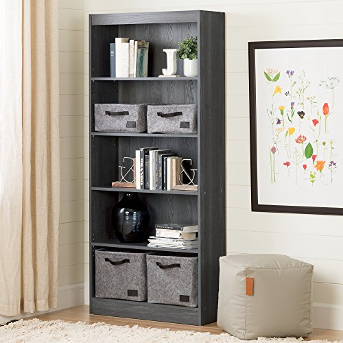 South Shore 5-Shelf Storage Bookcase, Gray Oak