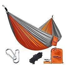 Portable Camping Hammock [3rd Generation] Wolfyok(TM) Multifunctional Lightweight Nylon Parachute Hammock, Travel Outdoor Hammock