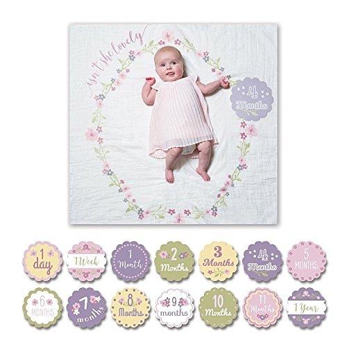 lulujo Baby Milestone Blanket Lovely