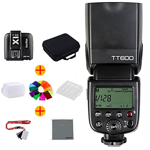 Fomito Godox TT600カメラフラッシュ 内蔵2 4G ワイヤレスXシステム 全てのホットシューが付きデジタル一眼レフカメラに対応 ( Canon・Nikon・Pentax・Olympus等)+ X1N-T送信機(Nikon専用)の商品画像