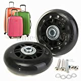 Abbott OD. 63 mm Wide 24 mm Axle 35 mm Luggage Suitcase/Inline Outdoor Skate Replacement Wheels with ABEC 608zz Bearings
