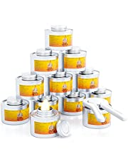 FUUL – Chafing Fuel Dish Burner Cans - 12 Pack - Chafing Dish Fuel Cans Burners To Keep Food Warm with 6-Hours Burning Capacity - Cooking Fuel For Chafing Dishes - 1 Opener Included for Opening Seal