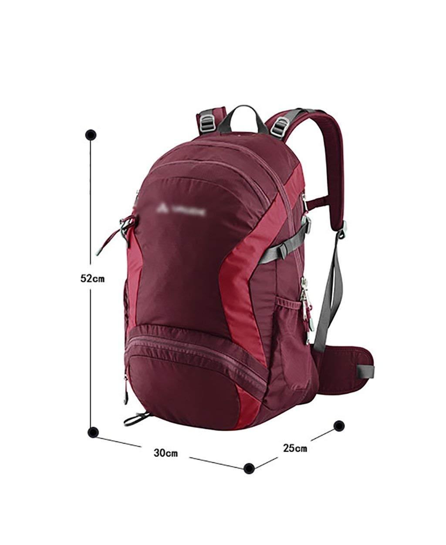 Wanderrucksack männlich und weiblich Outdoor Wandern Rucksack Licht und bequem Bergsteigen Tasche Wandern Rucksäcke (Farbe  B, Größe  30 + 4L-25  30  52) ( Farbe   B , Größe   30+4L-253052 )