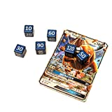 CNC Machined Aluminum Pokemon TCG Damage Counter Dice (6 pcs) Water Blue Color For Pokemon TCG, Burning Shadows, Guardians Rising, Sun and Moon