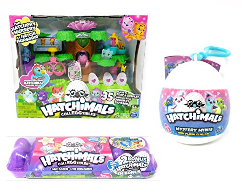 Hatchimals Playset  Exclusive 14 Colleggtibles  Mystery Mini Clip On Bundle