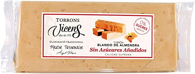 Turrón Blando de Almendra sin azúcar 250gr: Amazon.es ...