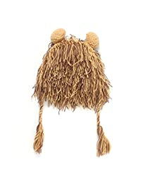 Youngate Lion Style Newborn Baby Boys Knitted w/ Weaving Hat Cap Photo Shoot