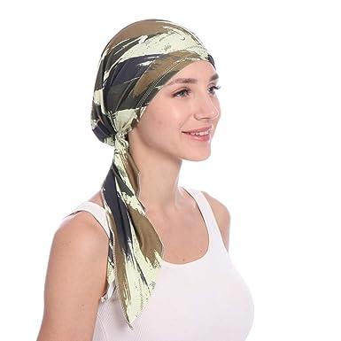 Élégant turban femelle, femme élégante foulard de chimiothérapie casquette  Beanie Sleeping Cap multi-fonctionnelles 870ea003acb