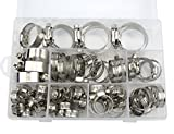 7 32 fuel hose - WGCD 60 PCS Stainless Steel Worm Gear Hose Clamps Automotive Clamps Assortment Kit