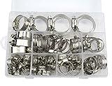 WGCD 60 PCS Stainless Steel Worm Gear Hose Clamps Automotive Clamps Assortment Kit