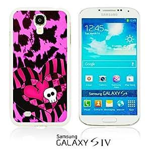 OnlineBestDigital - Skull Pattern Hardback Case for Samsung Galaxy S4 IV I9500 / I9505 - Skull with Hearts