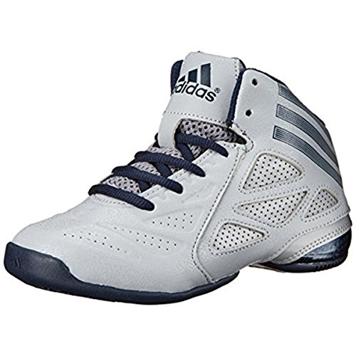 adidas Performance NXT LVL SPD Next Level Speed 2 K Mid-Cut Basketball Shoe (Little Kid/Big Kid), Light Onix/Collegiate Navy/Aluminum 2, 11 M US Little Kid (Next Adidas Level Speed)