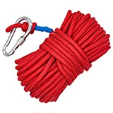 #8: Wukong Climbing Rope & Carabiner, 8mm x 65 Feet Magnet Fishing Rope,1000 Lbs Breaking Strength Fire Rescue Parachute Rope Escape Rope Ice Climbing Equipment