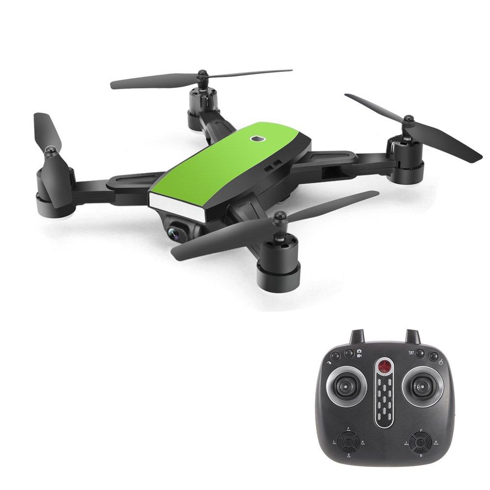 Springdoit Vier-Achsen-Flugzeug ESC Objektiv HD Luftbildfotografie WiFi HD Kamera schweben 360 Grad Rolldrohne grün