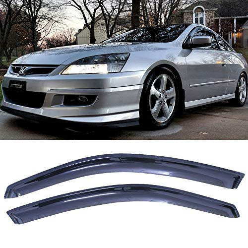 Deebior 2pcs For 08-12 Honda Accord Coupe Only Sun Rain Guard Vent Shade Window Visors