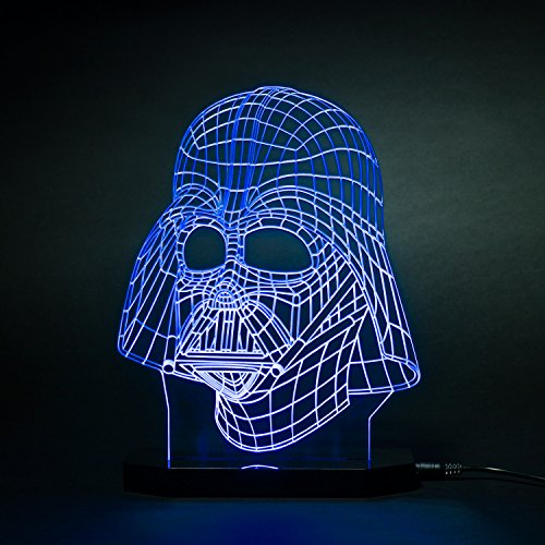 Comics+3D+Night+Lamp+ Products : 3d Star Wars Darth Vader LED Light Table Lamp Night Light Kids Room Bedroom Gift
