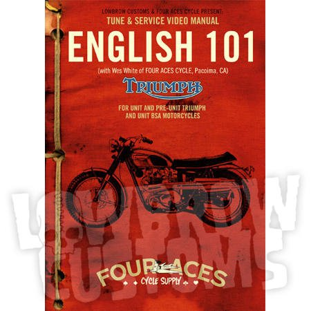 LowBrow Customs English 101 DVD - Unit and Pre-Unit Triumph and BSA Motorcycle Maintenance 000112
