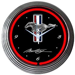Neonetics Mustang Neon Wall Clock, 15