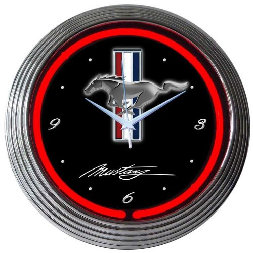 Neonetics Mustang Neon Wall Clock, ()