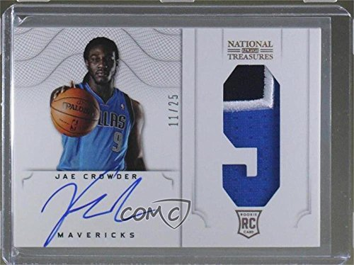 Jae Crowder #11/25 (Basketball Card) 2012-13 Panini National Treasures - [Base] - Jersey Number Prime Autograph [Autographed] #166