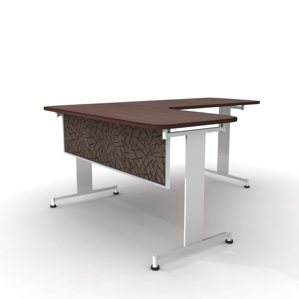 Obex 18X72A-A-SM-MP 18'' Acoustical Desk and Table Mounted Modesty Panel, Smoke, 18'' x 72''