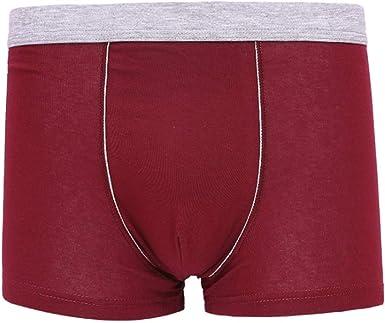 JAZ6 Calzoncillos Boxer para Hombre Pack de 3 Bragas Talla Grande de algodón para Hombre Ropa Interior cómoda Transpirable para Hombre Boxers de Sexy Boxers Casuales Boxers de Moda de Color sólido: