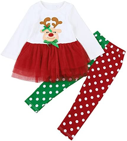 Disfraz Navidad Bebe Niña 1-6 años Reno Princesa Tutu Vestido Tops ...