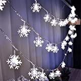 PURETIME Snowflake LED Fairy Lights Solar String Lights, 20 LED 10FT/3.5M Waterproof Decorative String Lights Indoor Outdoor for Christmas, Party, Wedding, New Year, Garden Déco,Store (Color 2 White)