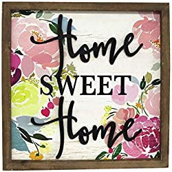 Paris Loft Wood Framed Home Sweet Home Wall Sign Plaque