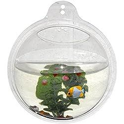 Azaina_ade Decoration Mounted Home Decor - Wall Aquarium Fish Bowl Tank Hanging Bubble Mount