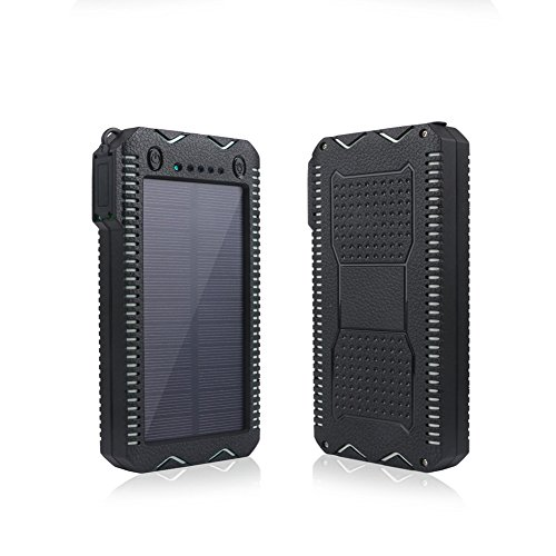 Solar Power Bank,Solar Charger,15000mAh Solar Battery Charger,Portable Power Bank (Waterproof/Dustproof/Shockproof/Cigarette lighter),Phone Charger for Emergency Outdoor Camping Travel