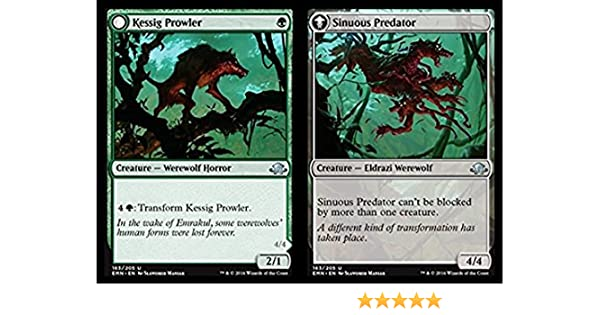 Eldritch Moon 4 x Kessig Prowler // Sinuous Predator Uncommon 163//205